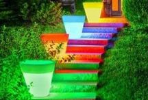 Coulored stairs / Pictures of colourful stairs