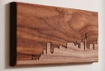 Woody Art / Art made from wood.