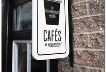 restaurants, cafe, shops