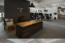 office, wnętrza, praca