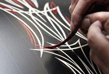 Pin stripe art