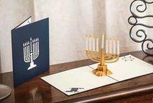 Happy Hanukkah! / Let's celebrate the Hanukkah miracle.