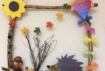 Kinder basteln im Herbst