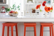 Just a 'Pop' of color / Colors can speak loudly or offer up a whisper of accent.  Add a small amount of color and watch your rooms come alive.