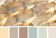 """Color Palettes / """"The purest and most thoughtful minds are those which love color the most.""""  - John Ruskin"""