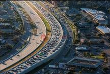 Austin Rush-Hour Traffic Jam on I-35 Mopac Loop 1 Drive Time Commute Transportation / As Austin's population continues to skyrocketing grow, it doesn't seem like traffic will be getting better any time soon. Austin was ranked 1st worst city for traffic in the nation. Our roads are congested and getting worse by the minute. Travel times are monumental and tempers are fraying at Austin's political leaders for not coming up with solutions to tackle this problem. Interstate 35 (I-35) and the Mopac Expressway (Loop 1) literally jammed packed parking lots.