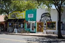 EAST AUSTIN East Sixth Street Arts & Entertainment District / East Austin, the neighborhood just east of I-35 downtown, has unseated South Congress and West Sixth Street as Austin's newest hipster home base. It not only touts some of the most highly rated Mexican eateries in the country but also coffee shops, a farmers market, and food trucks and food-trailer parks located on East 6th Street, home to Austin's hippest restaurants, bars and music venues every night.