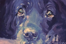 Painted Dog / Dogs.  Art.  Love.