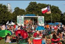 Blues on the Green, Austin's free summertime concert series in Zilker Park / Blues on the Green is an Austin summertime concert tradition, children, pets, and cold beer are all are welcome at this summertime concert series held in Zilker Park, Austin, Texas.