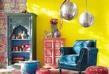 coming home / happy and colorful interiors