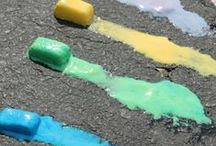 Chalk & Play Dough Craft