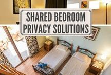 Shared Bedroom Ideas / Shared bedroom ideas for teens, adults with a newborn baby, boy and girl siblings, college apartments, and more. Looking for shared bedroom privacy ideas? Visit roomdividersnow.com to see interior design layouts for shared bedrooms.