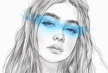 Pencil drawings..