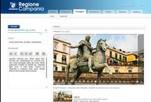 CMS Regione Campania / Realizzazione pagine per CMS del nuovo portale Regione Campania.