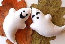 Halloween... in feltro / tantissime decorazioni per la festa di Halloween in feltro/pannolenci