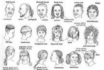 describe people / face, body parts, words to describe