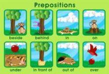 prepositions / prepositions in English