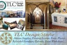 TLC Painting Banners and TLC Design Studio Website Images / TLC Design Studio banners for web sites I built www.tlcdesignstudio.net and promotions of their painting services, plastering and their furniture refinishing with chalk paint® by Annie Sloan. Banners and Graphics by Robyn Fear