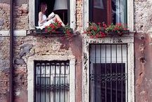 Venice | Window Gardens / Window dressings, balconies, hanging gardens