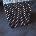 mdf / Caixas de Mdf , com tecido de algodâo