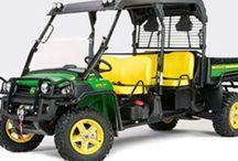 ATV and Gators / All terrain vehicles, ATV, UTV and personal vehicles such as John Deere Gators and Polaris. Ruggedized golf carts that are four wheel drive.