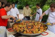 Food - Paella / Paella pan cooking