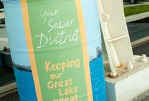 Saving Water & Keeping it Clean / Ways to save water - Rain barrels. Clean water.. Just a wee bit important!