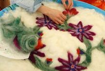 Felt Making / Visit us at folkschool.org to sign up for a class!