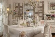 A white shabby chic home / by Patricia Rose