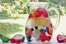 Infused Waters. / Celebrating ways to make water taste fruity, veggie and help us keep hydrated