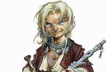 Halfling / Halfling portraits for roleplaying games