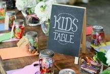 Celebration ideas for little folk / Keeping little ones occupied and happy at celebration receptions and events - fantastic!