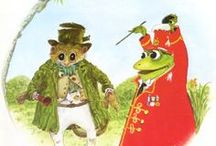 Jim Smith Frog Band Illustrations / Wonderful watercolour paintings created by Jim Smith for his series of five Frog Band stories