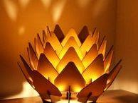 Lasercut light / lamp / Lasercutted candleholder