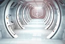 Concept art Interior design / Corridor / Environment / Hallways / Warehouse / Station / Base / Concept art interiors from the best concept artists, all kinds of interior scenes, mostly futuristic modern architectural sci-fi corridors, hallways to hotel room doors, mystic tunnels, home base cabins, space outpost, spaceship and space station interior, warehouse interior, interiors of futuristic alien buildings. In game Sci Fi Interior 3D Model renders and 360° turntables created in unreal engine, 3ds max and maya.