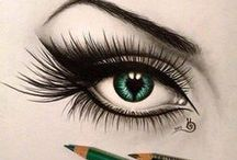 Drawing - Eyes / Sub Category for my drawing pins - eyes only