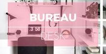 Bureau ※ Desk / Idées et inspiration pour la décoration du bureau ※ Desk decoration ideas. Home & interior design inspiration.