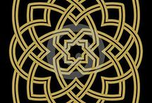Graphic design / Celtic knot / Endless knot / Celtic art / Celtic knot and endless / infinity knot drawing and design graphic, all kind of shapes for stencil, tattoo art such as triangle, square, ring, tree, border) using ancient celtic art in a modern context.