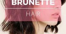 Cheveux bruns ※ Brunette hair / Idées de couleur et coiffure pour les cheveux bruns ※ Brunette hair color ideas & inspiration