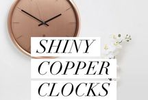Copper Clock Collection / Copper Clocks - Rose Gold Accessories For The Home