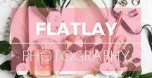 Flatlay Photography / Idées de flatlay design. Flatlay style photo inspiration.