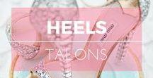 Talons ※ Heels / Chaussures à talons. Escarpins, sandales, compensées ※ High heels shoes