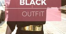 Style : Black outfit / Total black style inspiration, outfit ideas