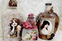 Bottle Art / Upcycled and altered bottles. / by Annie Collins