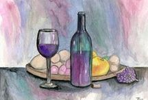 Bring The Wine / Artwork for the wine lovers. These high quality prints will make great additions to your home, restaurant or office. / by Roz Abellera Art