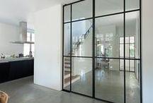 black frame door