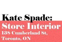 Kate Spade: 138 Cumberland St., Toronto, ON / Kate Spade New York, Cumberland location, Toronto, Ontario, Canada. Spring 2016.