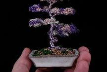 Metal Bonsai Wire Tree Sculptures / Some of the wire tree sculptures I have created. These are available for purchase at MetalBonsai.com
