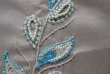 Tambour embroidery / Tambour embroidery was enjoyed by the Regency ladies for its delicate design. It is a hand embroidery technique worked by a hooked needle