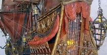 Baroque ships / From aftercastle to forecastle Wood ornamentation